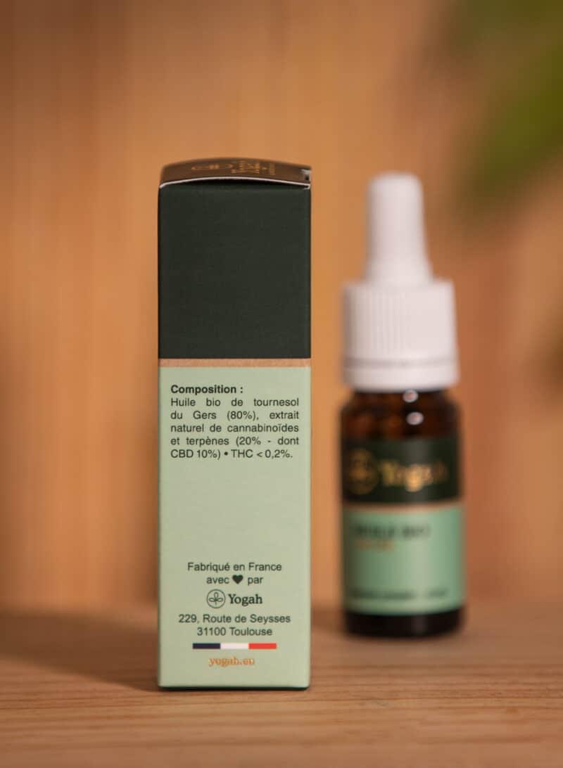 Arrière packaging - Huile CBD 10%